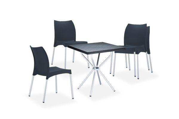 Sitzgruppe Ronda schwarz