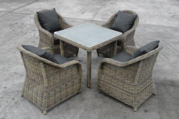 Sitzgruppe San Juan XL Milchglas, B-Ware-rund_natura-Anthrazit natura