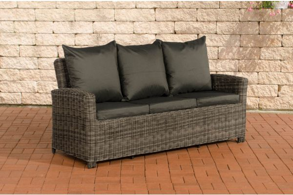 Sofa 3er Fisolo Anthrazit 5mm grau-meliert