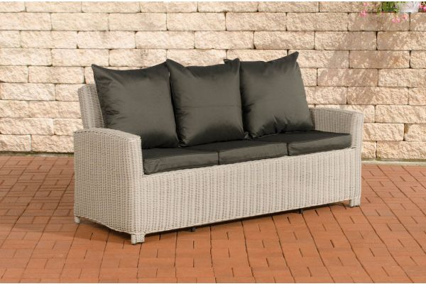 Sofa 3er Fisolo Anthrazit 5mm perlweiß