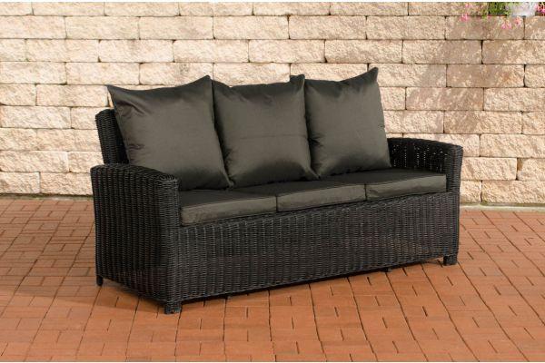 Sofa 3er Fisolo Anthrazit 5mm schwarz