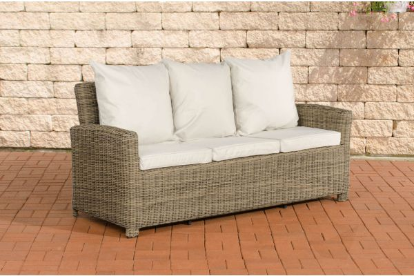 Sofa 3er Fisolo Cremeweiss 5mm natura