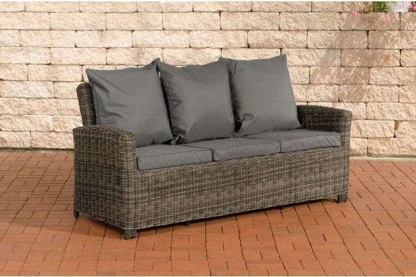 Sofa 3er Fisolo Eisengrau 5mm grau-meliert