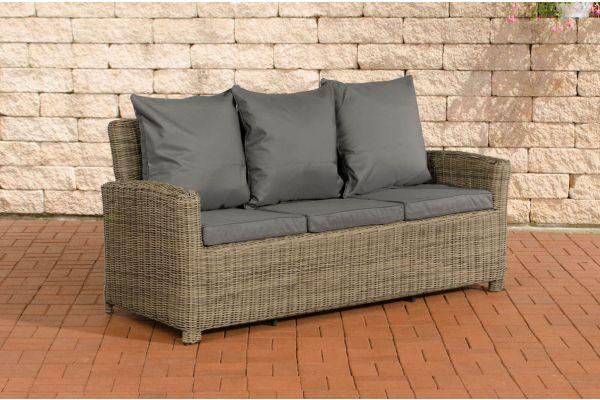 Sofa 3er Fisolo Eisengrau 5mm natura