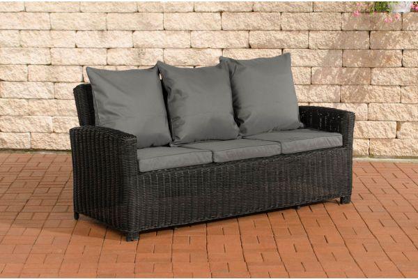 Sofa 3er Fisolo Eisengrau 5mm schwarz