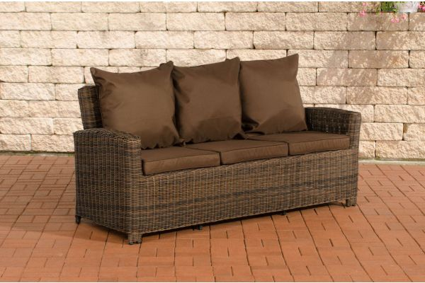 Sofa 3er Fisolo Terrabraun 5mm braun-meliert