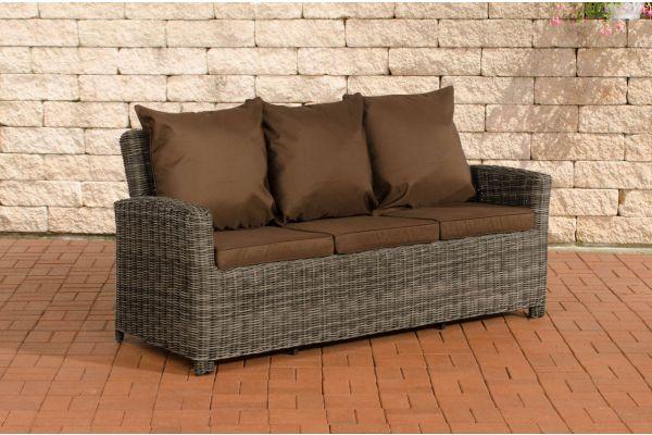 Sofa 3er Fisolo Terrabraun 5mm grau-meliert