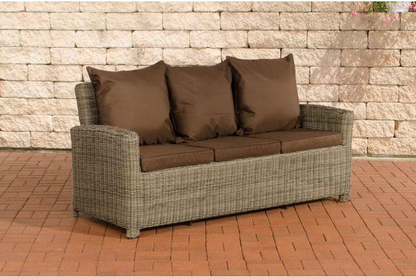 Sofa 3er Fisolo Terrabraun 5mm natura