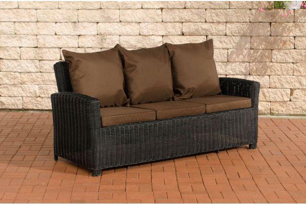 Sofa 3er Fisolo Terrabraun 5mm schwarz