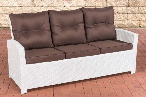 Sofa 3er Fisolo Terrabraun weiß