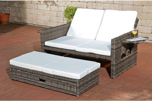 Sofa Ancona Cremeweiss 5mm grau-meliert