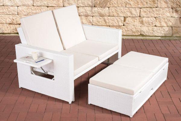Sofa Ancona Cremeweiss weiß