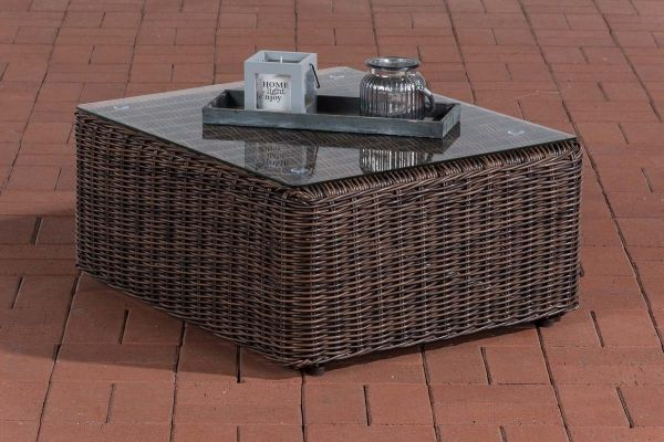 Sofa-Tisch Marbella 5mm braun-meliert