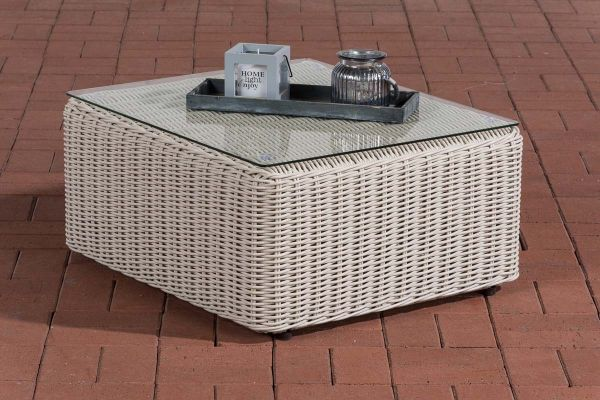 Sofa-Tisch Marbella 5mm perlweiß