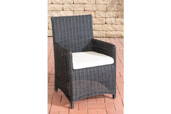Stuhl Fontana / Sankt Marlo Cremeweiss 5mm schwarz