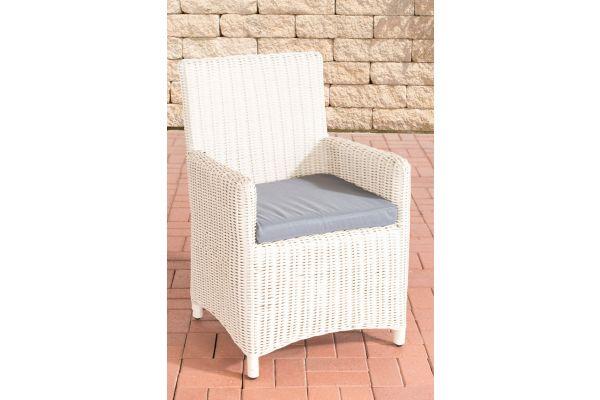 Stuhl Fontana / Sankt Marlo Eisengrau 5mm perlweiß