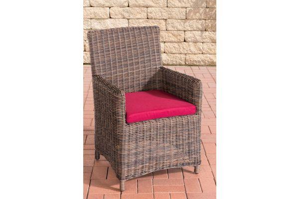 Stuhl Fontana / Sankt Marlo Rubinrot 5mm braun-meliert