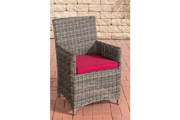 Stuhl Fontana / Sankt Marlo Rubinrot 5mm grau-meliert