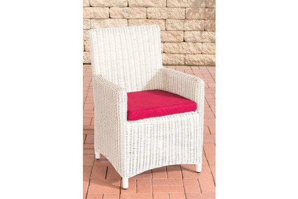Stuhl Fontana / Sankt Marlo Rubinrot 5mm perlweiß