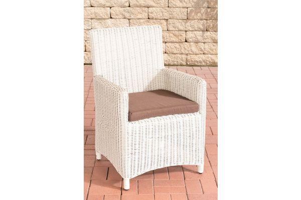 Stuhl Fontana / Sankt Marlo Terrabraun 5mm perlweiß