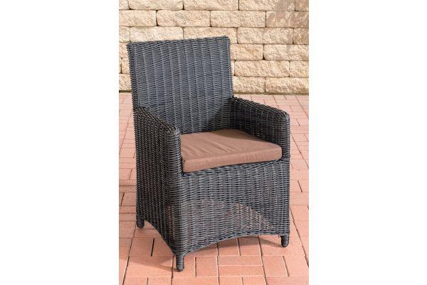 Stuhl Fontana / Sankt Marlo Terrabraun 5mm schwarz
