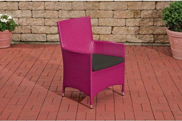 Stuhl Julia/Avignon/Tropea/Florenz Anthrazit pink