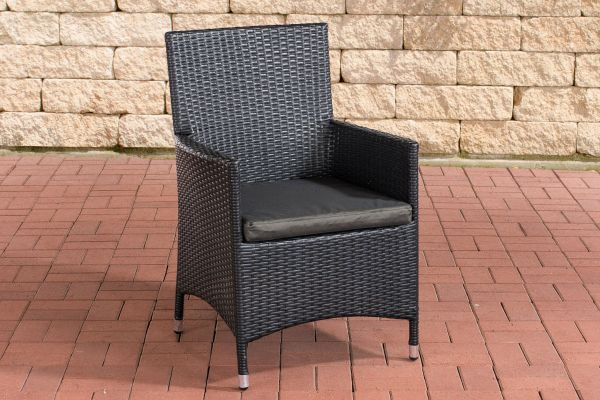 Stuhl Julia/Avignon/Tropea/Florenz Anthrazit schwarz