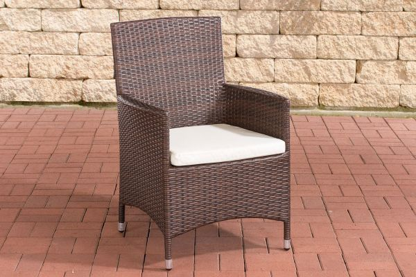 Stuhl Julia/Avignon/Tropea/Florenz Cremeweiß braun-meliert