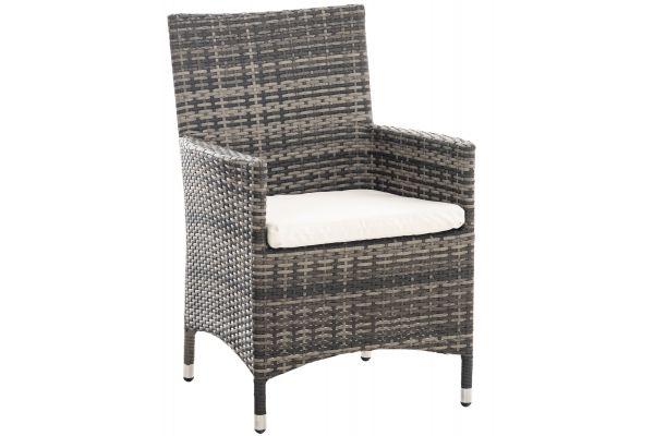 Stuhl Julia/Avignon/Tropea/Florenz Cremeweiß grau-meliert