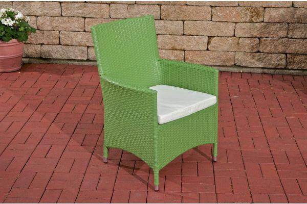 Stuhl Julia/Avignon/Tropea/Florenz Cremeweiß grün