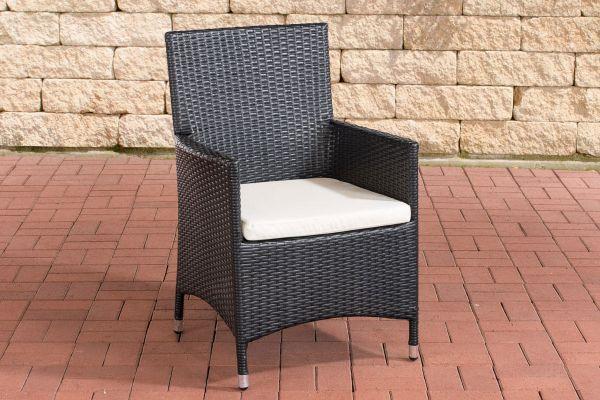 Stuhl Julia/Avignon/Tropea/Florenz Cremeweiß schwarz
