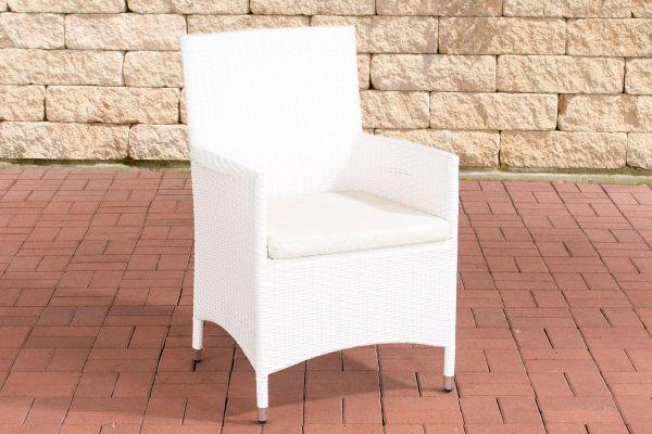 Stuhl Julia/Avignon/Tropea/Florenz Cremeweiß weiß