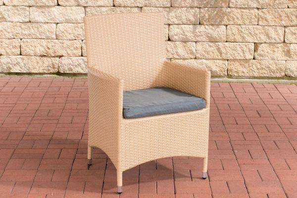 Stuhl Julia/Avignon/Tropea/Florenz Eisengrau sand