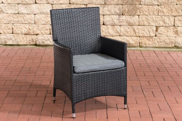 Stuhl Julia/Avignon/Tropea/Florenz Eisengrau schwarz