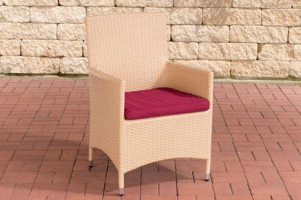 Stuhl Julia/Avignon/Tropea/Florenz Rubinrot sand