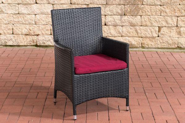 Stuhl Julia/Avignon/Tropea/Florenz Rubinrot schwarz