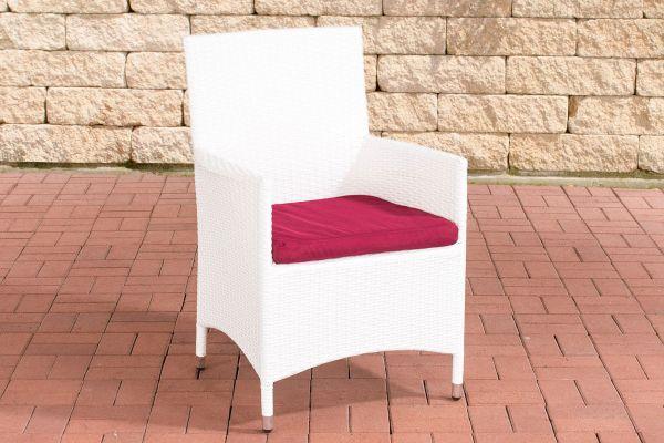 Stuhl Julia/Avignon/Tropea/Florenz Rubinrot weiß