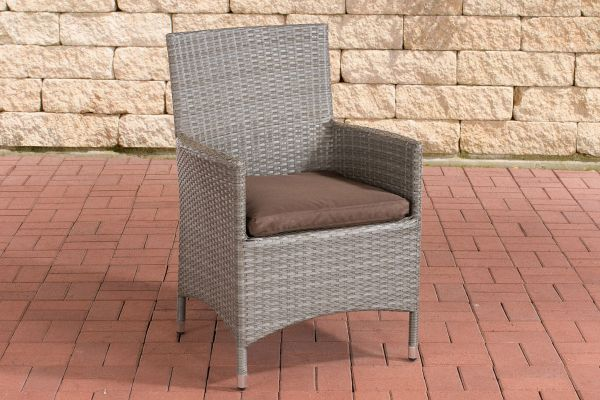 Stuhl Julia/Avignon/Tropea/Florenz Terrabraun grau