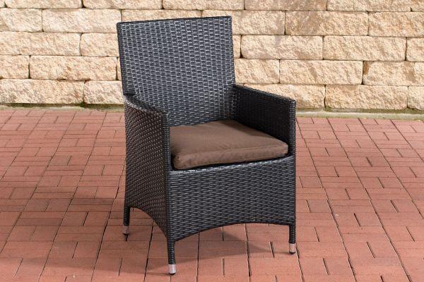 Stuhl Julia/Avignon/Tropea/Florenz Terrabraun schwarz