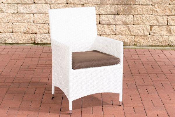 Stuhl Julia/Avignon/Tropea/Florenz Terrabraun weiß