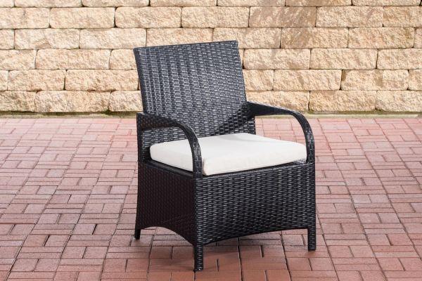 Stuhl Pizzo Cremeweiß schwarz