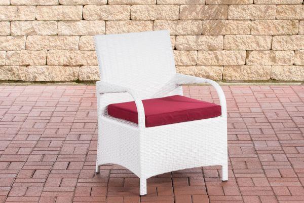 Stuhl Pizzo Rubinrot weiß
