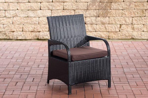 Stuhl Pizzo Terrabraun schwarz