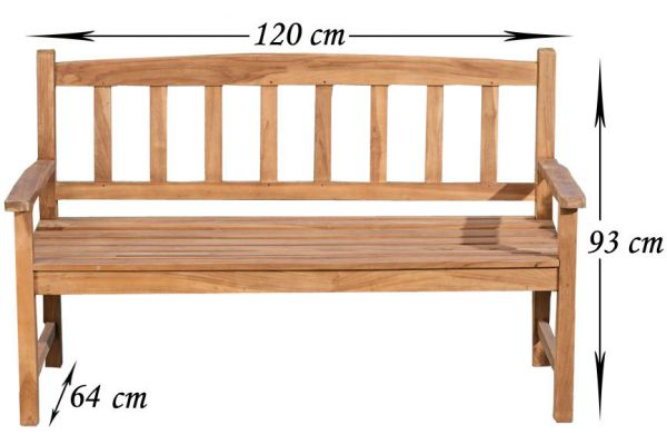 Teakbank Aucland V2 120 cm teak