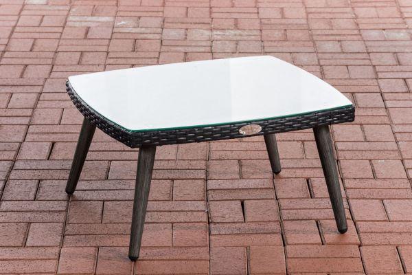 Tisch Ameland Flachrattan 30 cm schwarz