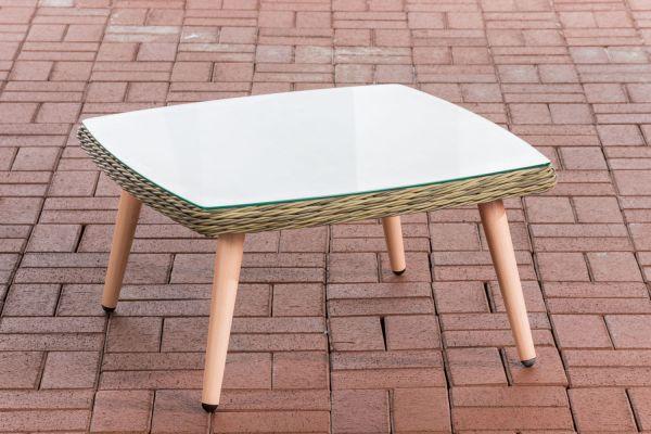 Tisch Ameland Rundrattan Tischhöhe 35 cm