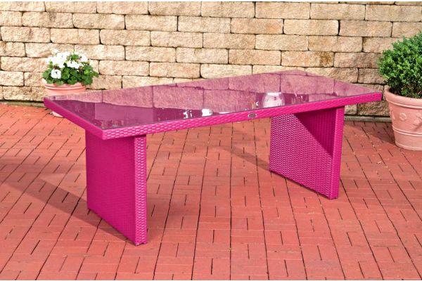 Tisch Avignon BIG 200 cm pink