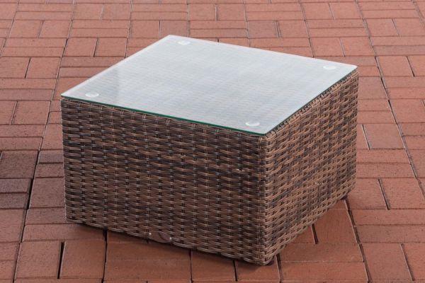 Tisch Genero / Liberi 5mm braun-meliert