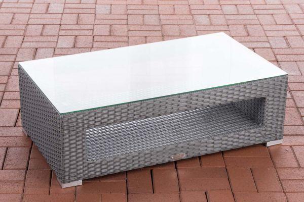 Tisch Honolulu Flachrattan grau