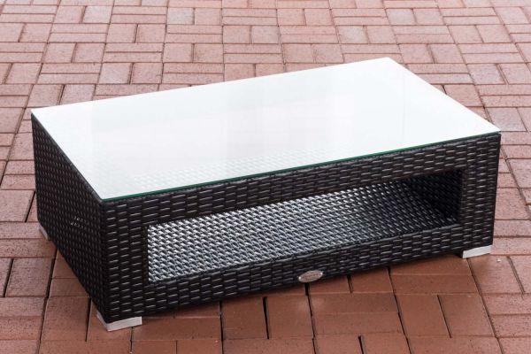 Tisch Honolulu Flachrattan schwarz